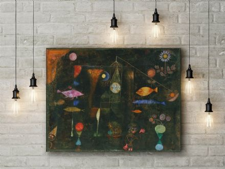 Paul Klee: Fish Magic. Fine Art Canvas.